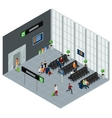 People In Airport Isometric vector image vector image