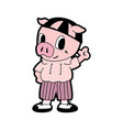 pig in cartoon style vector image vector image