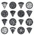 pizza food icon set simple style vector image vector image