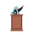 political speech concept flat isolated vector image