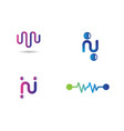 pulse logo template vector image