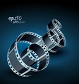 realistic reel film vector image vector image