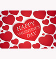 red heart symbol for greeting card happy valentine vector image