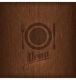 restaurant menu design on wood background vector image vector image