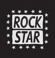 rock star prints label vector image