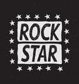 rock star prints label vector image vector image