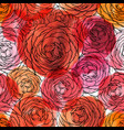 rose seamless pattern floran watercolor vector image