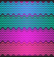 seamless colorful pattern of multicolored wavy vector image vector image