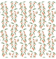 Seamless pattern branches and leaves of Goji vector image vector image