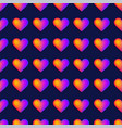 seamless rainbow realistic heart pattern a vector image
