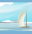 seascape sailboat vector image