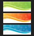 Set of wave background banner or header vector image vector image