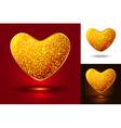 set shiny icons hearts vector image vector image
