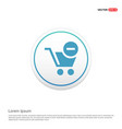 shopping cart and delete sign hexa white vector image vector image