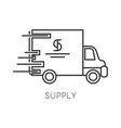 supply isolated linear icon logistics and vector image