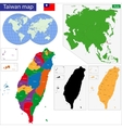taiwan map vector image