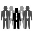 team businessmans and leader vector image