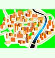 Town plan vector image vector image