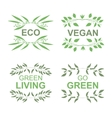 Vegan product labels vector image vector image