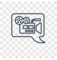 video comment concept linear icon isolated on vector image