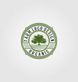 vintage fresh farm with tree and filed logo vector image