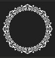 white snowflake frame vector image vector image
