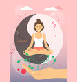 women yoga class flat style design vector image