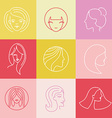 womens logo design elements vector image vector image