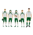 Young guys school american football team with vector image vector image