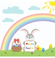 Happy easter Icon set vector image