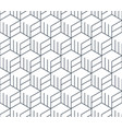 black line pattern on white seamless backdrop vector image