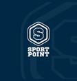 sport point logo vector image