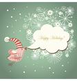 cute bird and speech bubble vector image