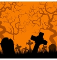 old cemetery vector image