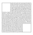 a huge square labyrinth with an entrance and an vector image vector image