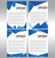 Abstract Document Template vector image vector image