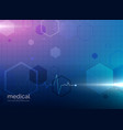 abstract molecule medical healthcare or pharmacy vector image vector image
