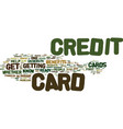 are you ready for a credit card text background vector image vector image