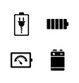 battery simple related icons vector image vector image