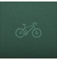 Bicycle Empty realistic black board in format vector image vector image