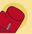 boxing sport gloves vector image vector image