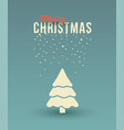 christmas tree greeting card with ornaments and s vector image vector image