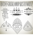 collection tribal design elements and alphabet vector image vector image