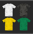color men shirts design template vector image vector image