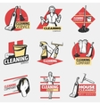 Colorful Cleaning Company Logotypes vector image vector image