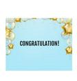 congratulation card with golden balloons vector image vector image