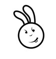 cute bunny icon vector image