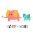 cute elephant family mother and her baby vector image
