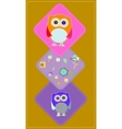 cute owls couple with baby owl owl family vector image vector image