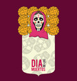 day of dead card vector image vector image